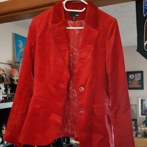 H&M Red Velvet Blazer